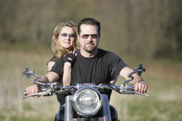 Motorcylists without helmets