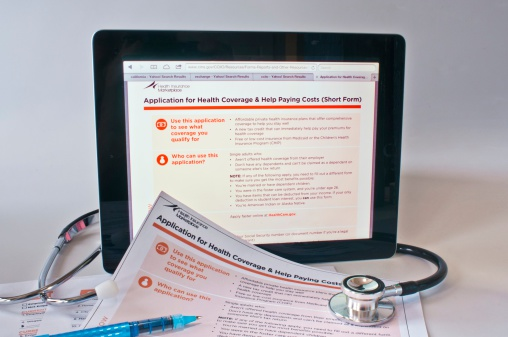 Obamacare subsidy application